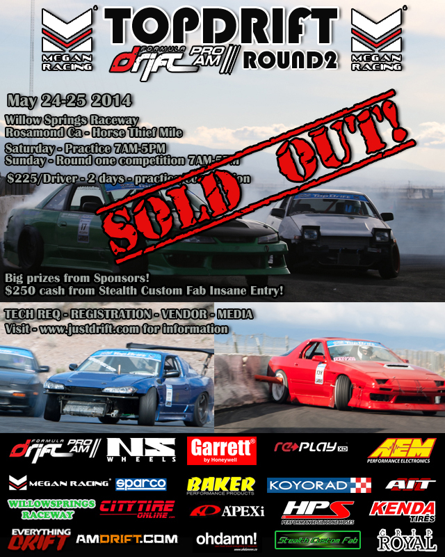 TOPDRIFT Rd2 SOLD OUT TO DRIVERS! SPECTATORS COME OUT AND WATCH FUTURE STARS!